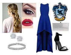 """""""Ravenclaw Ball"""" by isabelariana1112 ❤ liked on Polyvore featuring BCBGMAXAZRIA, Jimmy Choo, Effy Jewelry and Apples & Figs"""