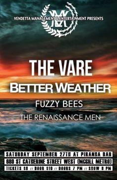 Poster by Vendetta Management Event Posters, Better Weather, Renaissance Men, Management, Entertaining, Funny