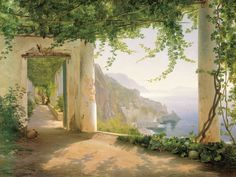 Amalfi dai Cappucini,  View to the Amalfi coast. Carl Frederic Aagaard