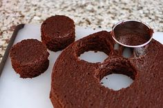 DIY 'Ding Dongs' to make hockey puck cupcakes.