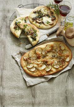 Nem pizza med let fyld af kartofler og mozzarella. Krydret med rosmarin.