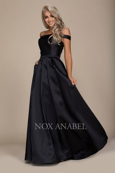 59d0236a12e N C007 - Elegant Floor Length Off the Shoulder Evening Dress