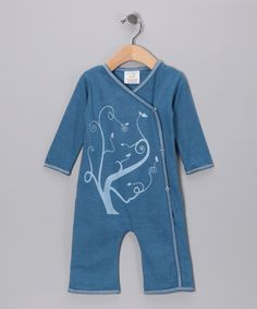 Look at this Indigo Swirly Tree Organic Playsuit - Infant & Toddler on #zulily today!