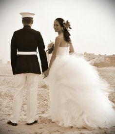 Vintage Marine Corps wedding photography
