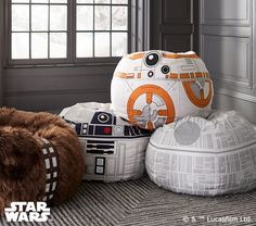 Comfy-looking Star Wars beanbag chairs...