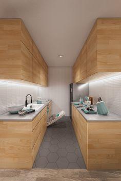 Narrow kitchen idea