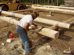 Building A Log Cabin By Hand ~ http://modtopiastudio.com/idea-for-building-a-log-cabin-using-professional-staff/
