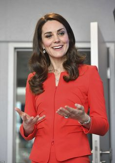 While chatting to students, Kate admitted that she is shy and sometimes struggles to open up