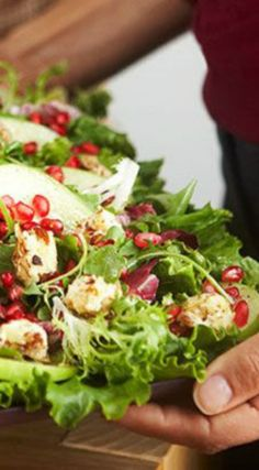 "Mixed Green Salad with Warm Philadelphia® Cream Cheese ""Croutons"" Recipe. A great passover recipe ."