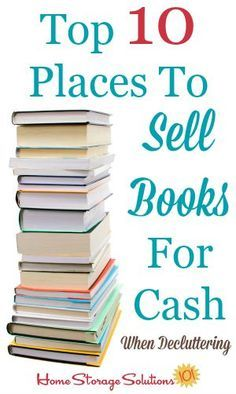 List of the top 10 places to sell books for cash when decluttering or just becau. List of the top 10 places to sell books for cash when decluttering or just becau. Sell Books For Cash, Sell Used Books, Books For Sale, Buy Books, Make Money From Home, Way To Make Money, Make Money Online, Things To Sell Online, Pat Cash