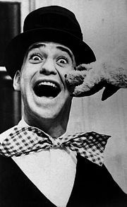Soupy Sales I lOVED that show! I used to walk home from school at lunch and watch soupy sales while I ate lunch. He was on TV in Detroit in the later 1950s. White Fang and Black Tooth were his puppet companions.