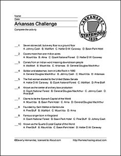 learn about arkansas with free printables free printables word search and learning. Black Bedroom Furniture Sets. Home Design Ideas