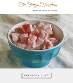Watermelon Yogurt Salad | Frugal Hausfrau -