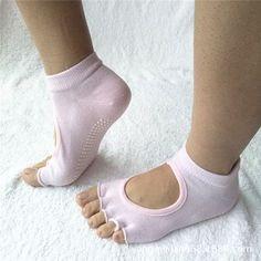 High Quality Finger 5 Toes Cotton Breathable Ankle Women Sock Non-Slip Exercise Sports Pilates Massage Toe Socks