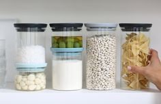 Brabantia Glass Stackable Jars, Set Of 3, 0.3/0.6/1.1 L: · Food Storage  ContainersLiving MagazineGlass ...