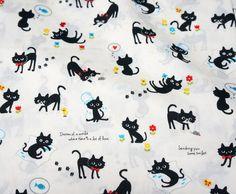 Cat Fabric Prints