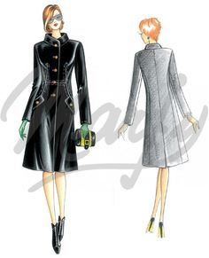 Our Patterns :: Marfy Collection 2014/2015 :: Autumn/Winter :: Sewing Pattern 3474 -