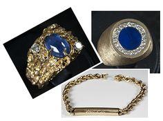 ELVIS' JEWELRY:  rings and bracelet