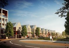 The Ridgeway Village will set a new standard for sustainable urban family living in the world class setting of North West Cambridge. Sustainability, Architects, Terrace, Urban, Mansions, Cgi, World, House Styles, Building