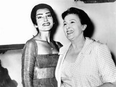 Two of Greece's most beloved and respected divas , Katina Paxinou & Maria Callas Maria Callas, Classical Opera, Losing Faith, Opera Singers, Perfect Woman, Yorkie, Role Models, Diva, Success