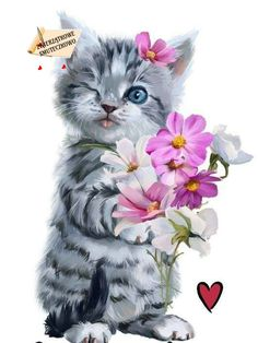 Ideas Cute Art Drawings Animals Beautiful For 2019 Cute Baby Cats, Cute Baby Animals, Kittens Cutest, Cats And Kittens, Cute Animal Drawings, Cat Wallpaper, Cat Drawing, I Love Cats, Cat Art