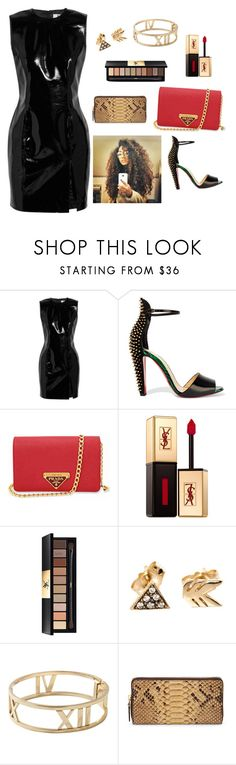 """""""Woman of many faces."""" by bunnisexy ❤ liked on Polyvore featuring Topshop Unique, Christian Louboutin, Prada, Yves Saint Laurent, Workhorse, Tiffany & Co. and Ralph Lauren"""