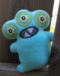 Free In the Hoop Monster Softie Machine Embroidery Design File created by EmbroideryGarden.com
