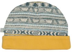 Tribal Stripes Organic Reversible Beanie Hat