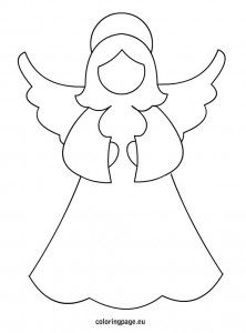 angel template christmas colors christmas art christmas angels xmas christmas stencils - A Christmas Angel