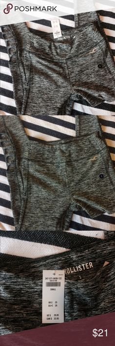 NWT Active Leggings NWT size small work out leggings ankle length hollister. Gray white and black. Cris cross pattern above the ankle. Hollister Pants