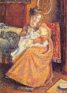 The Newborn - Georges Lemmen (Belgian, 1865-1916)