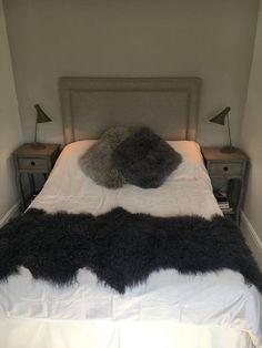 Luxury Tibetan Sheepskin Mongoloian Sheepskin Bed Cover Chair Cover Sofa  Throw Long Double Length Hygge By