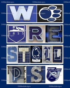 09b3fd2a0937d Penn State University Framed Alphabet Photo Art by DAMartndesigns