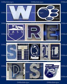 Penn State University Framed Alphabet Photo Art by DAMartndesigns, $35.00