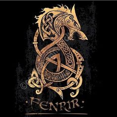 Ever notice how much Celtic-inspired art there was in the interiors of almost all buildings in Origins? I like to think of the Ferelden culture as being inspired by both Celtic and Scandinavian elements . In addition to the nations tribal roots. Fenrir Tattoo, Norse Tattoo, Viking Tattoos, Celtic Wolf Tattoo, Viking Ship Tattoo, Yggdrasil Tattoo, Celtic Tattoos For Men, Pagan Tattoo, Wiccan Tattoos