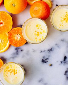 A gingery smoothie packed with secret ingredients to kick cold season to the curb. @foodess