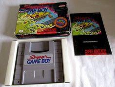 SUPER NINTENDO SUPER GAMEBOY ADAPTOR/INSTRUCTIONS/TRAY/IN BOX