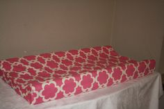 Fuschia Tarika Contour Changing Pad Cover by DesignsbyChristyS, $25.00