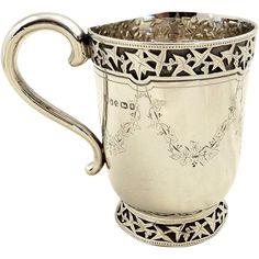 Antique Victorian Sterling Silver Mug/Tankard, 1873