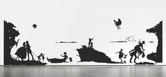 Kara Walker. Gone: An Historical Romance of a Civil War as It Occurred b'tween the Dusky Thighs of One Young Negress and Her Heart. 1994 | MoMA