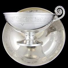 Large Heavy Antique French Sterling Silver & Gilt Vermeil Chocolate Tea / Coffee Cup & Saucer by Francois-Desire Froment-Meurice, 408.3g