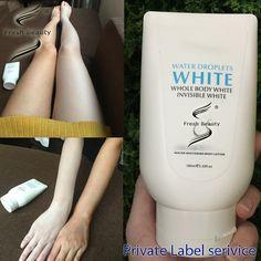 make your own logo of waterproof skin whitening body lotion
