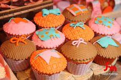 cupcake de bolo de fubá com goiabada