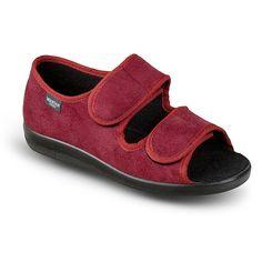 """Pantofi decupati ortopedici pentru femei OrtoMed 513-T70. Gama de marimi fabricate: 36-44. Sandalele sunt fabricate din material textil tip microfibra. Captuseala superioara este fabricata din material textil. Calapod lat, brant detasabil. Sandalele sunt reglabile pe picior: cele doua barete sunt prevazute cu velcro/""""arici"""" /""""scai"""". Sandals"""