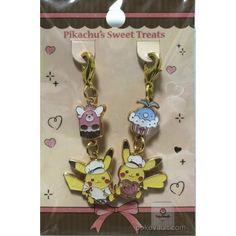 Pokemon Center 2018 Pikachu's Sweet Treats Valentine's Day Campaign Pikachu Bewear Swablu Set Of 2 Charms