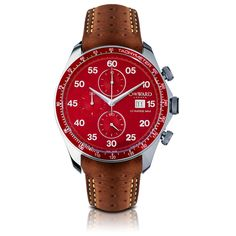 C7 Italian Racing Red - Limited Edition, Tan Strap - Christopher Ward