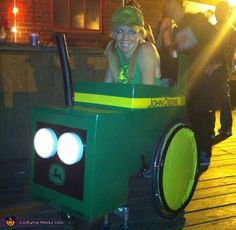 Wheelchair Tractor Creative Halloween Costume...Now I just need a wheelchair lol