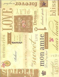 Cotton Sugar: papeles scrapbook para imprimir