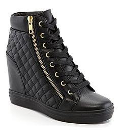 Steve Madden Zipps Wedge Sneakers #Dillards