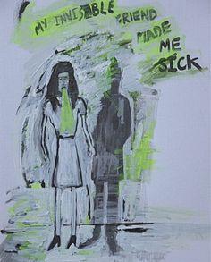 "Saatchi Online Artist BEAR London; Painting, ""Invisable Friend "" #art"